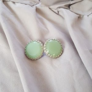 Mint green earrings FREE W/PURCHASE